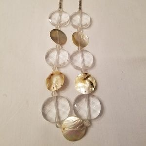Long Lucite Shell Necklace